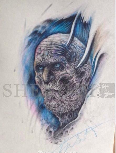 重庆纹身 升子纹身的纹身手稿图片