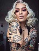 纹身美女写真照