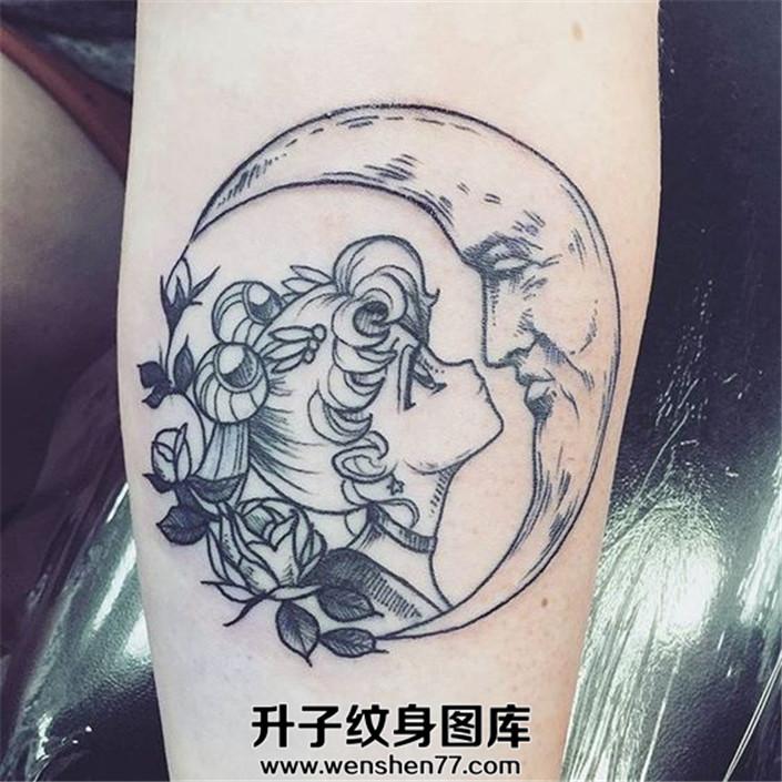 美少女战士和月亮纹身图案