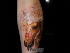 黄骠马纹身图案