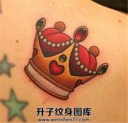 彩色皇冠纹身图案