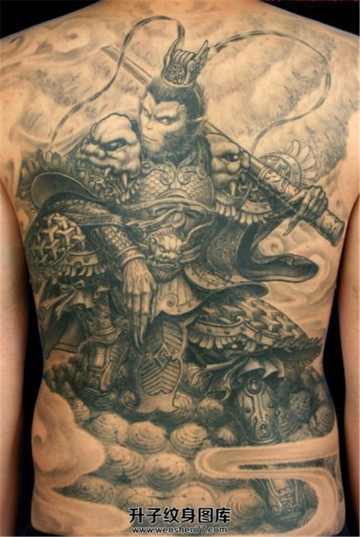 霸气满背大圣纹身