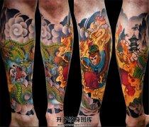 小臂传统大圣纹身