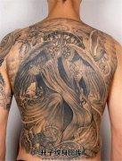 满背死神纹身图案