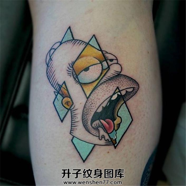点刺卡通图案纹身