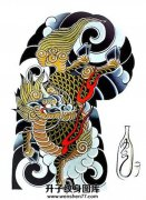 日式传统半甲麒麟手稿