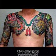 男性传统半甲纹身图案大全
