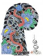 传统半甲蛇纹身手稿