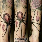 女性小臂钻石蜘蛛