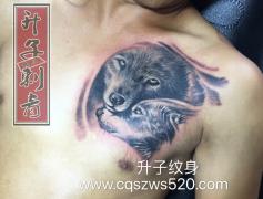 胸口一般纹什么好看?狼头纹身也是不错的选择