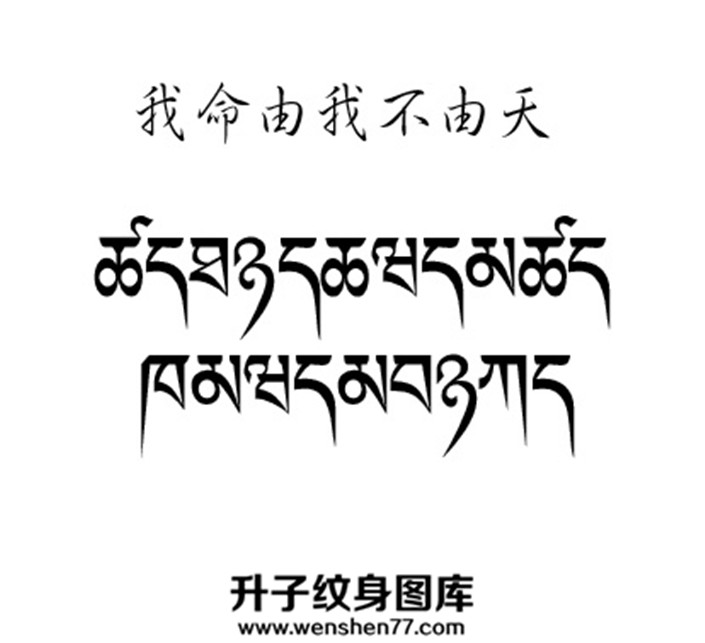 我命由我不由天的梵文手稿