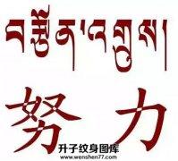 努力的梵文翻译