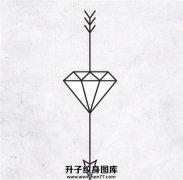 一张线条钻石纹身手稿