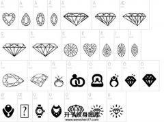 适合纹在手指上的钻石小图案集合