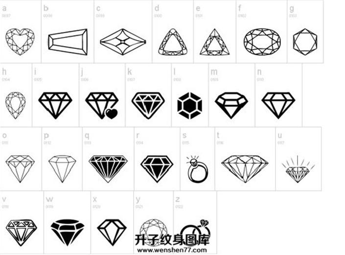 各种钻石纹身手稿