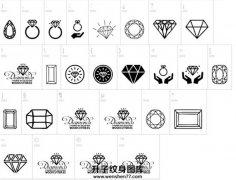 各种形状的图腾线条类钻石图案