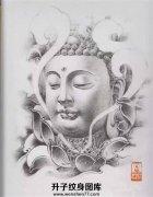 传统莲花佛纹身手稿