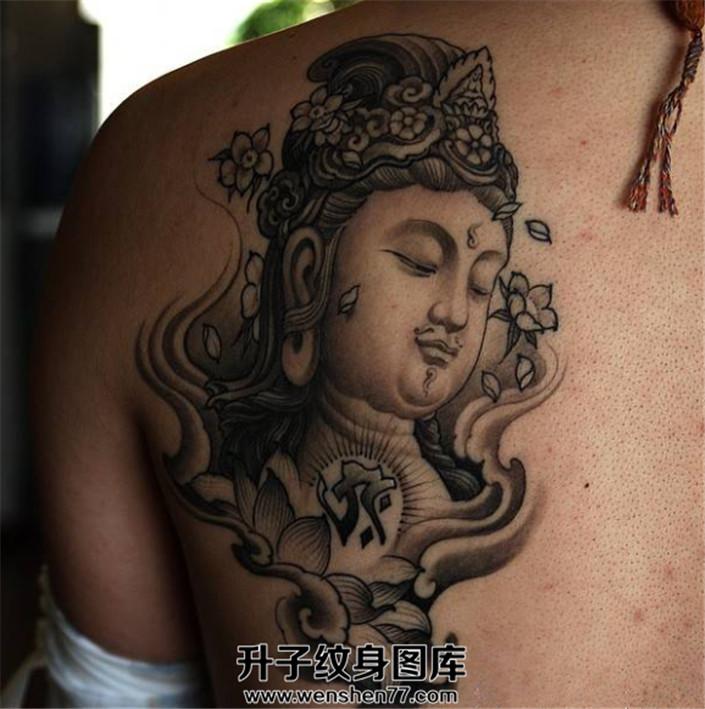 男性背部纹身图案推荐 佛纹身图案推荐