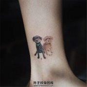 女生脚踝可以纹什么?狗狗纹身