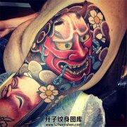传统般若面具纹身