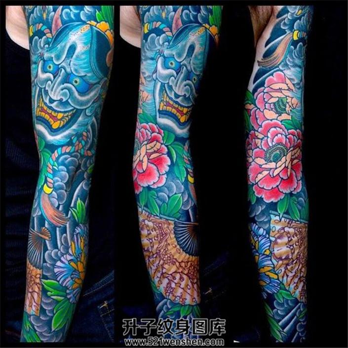 想纹一条传统的花臂,什么素材好?