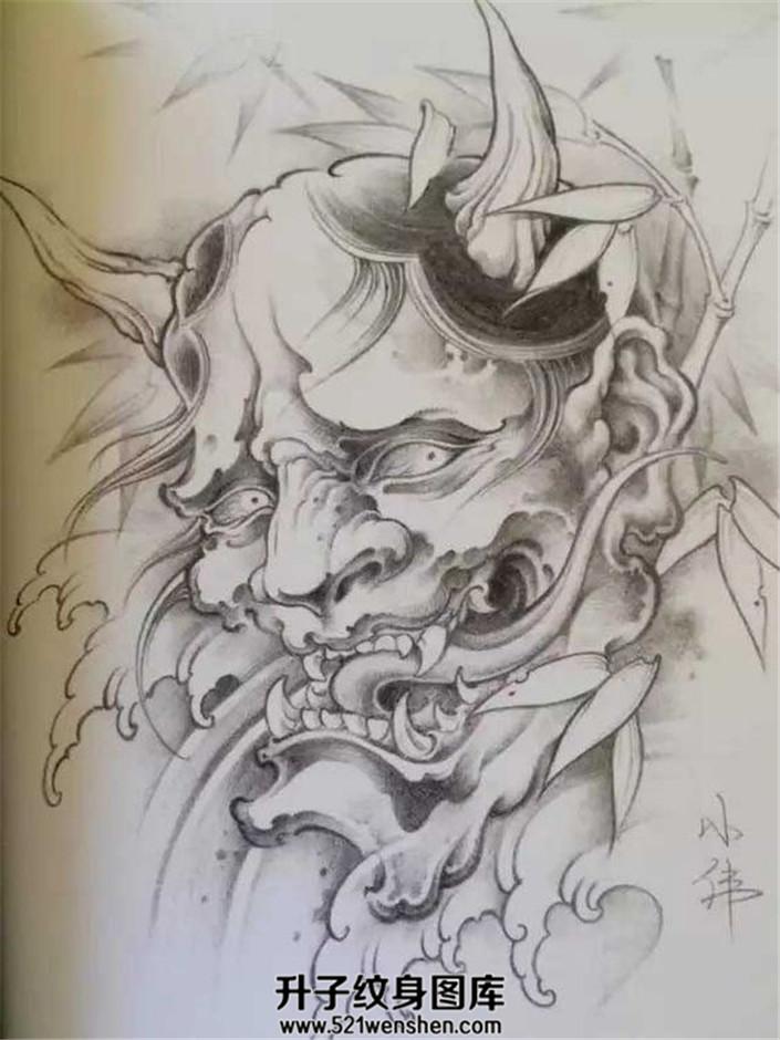 传统纹身手稿般若纹身手稿