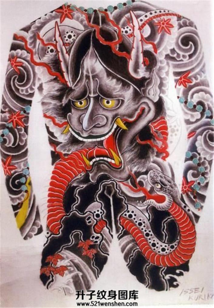纹身手稿大全——般若纹身手稿