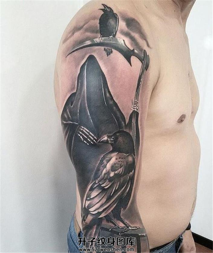 死神乌鸦纹身