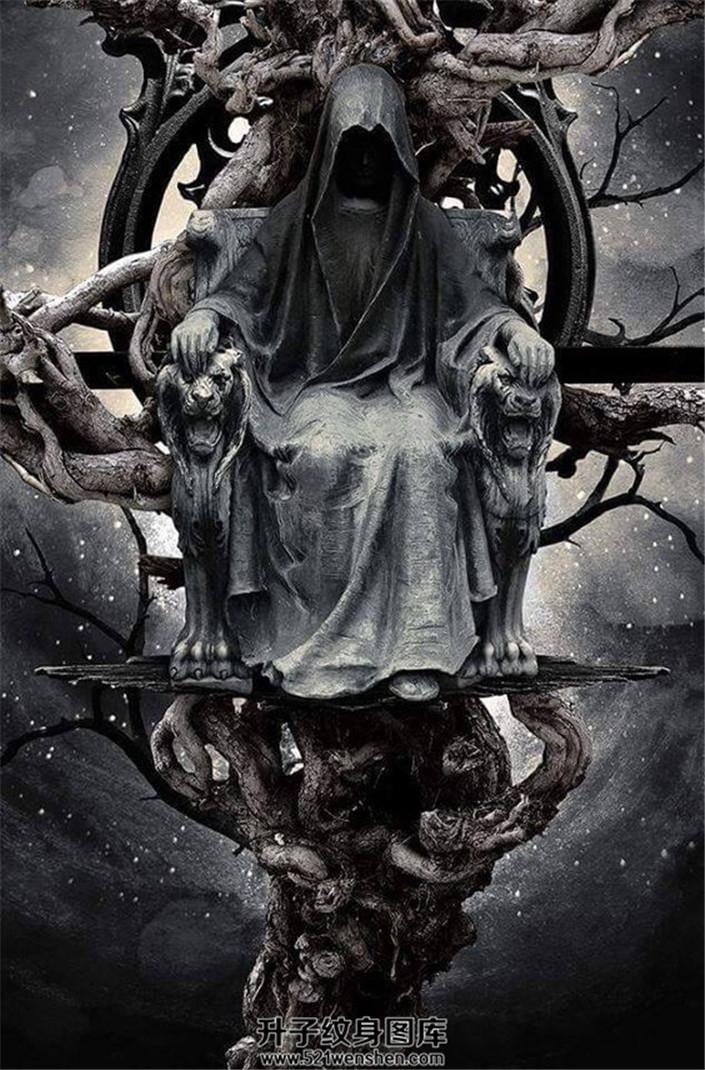 暗黑死神纹身手稿