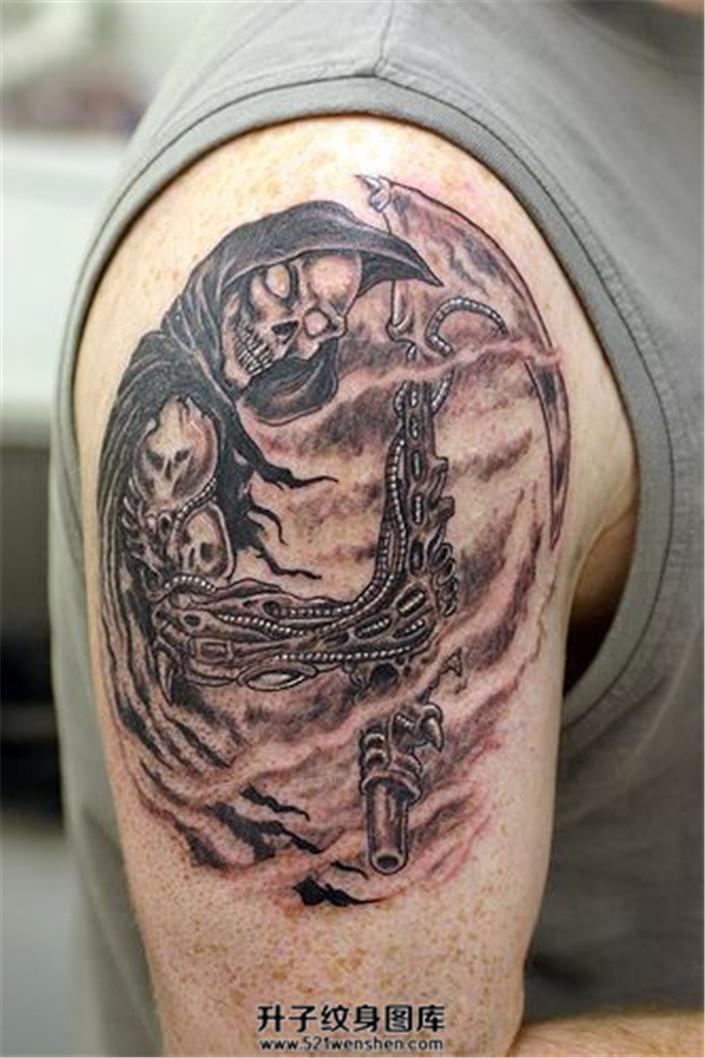 死神纹身纹在什么位置好?