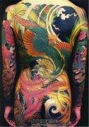 女性传统凤凰纹身