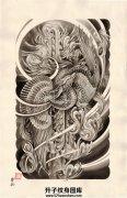 传统凤凰纹身手稿大全