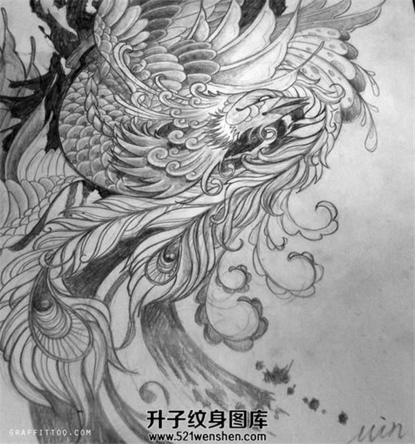 纹身手稿大全凤凰纹身手稿