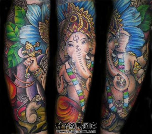 象神包小臂纹身