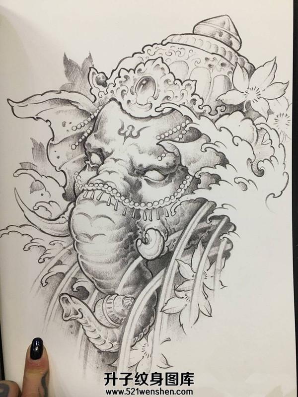 象神纹身手稿大全