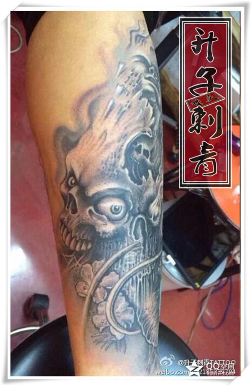 重庆纹身 遮盖失败纹身 骷髅头纹身【观音桥升子