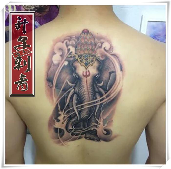 重庆纹身 重庆后背纹身 重庆象神纹身费用 【升子作品】