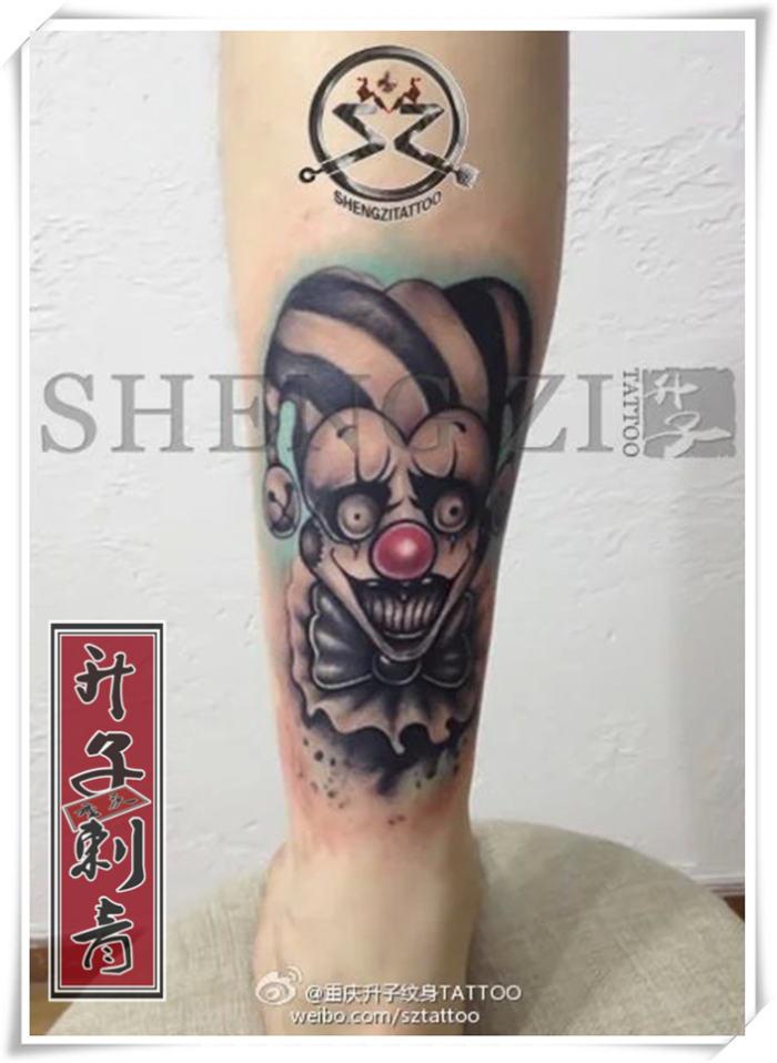 重庆纹身 小腿纹身 小丑纹身 小丑纹身哪里好》