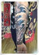 重庆纹身 花臂纹身 传统花臂纹身 嘎巴拉纹身 菊
