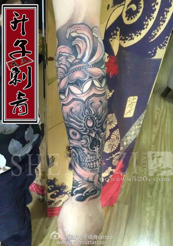 重庆纹身 花臂纹身 传统花臂纹身 嘎巴拉纹身 菊花纹身 纹身价格