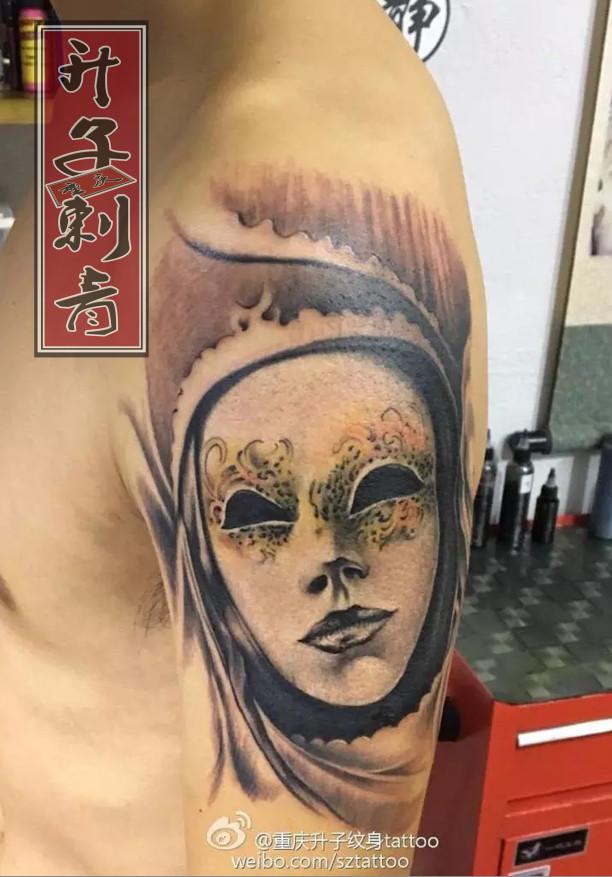 重庆纹身 重庆面具纹身 重庆面具纹身价格 欧美纹身