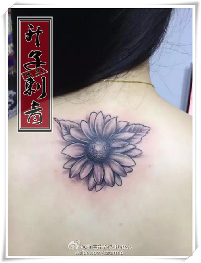 后背纹身_重庆向日葵纹身_重庆向日葵纹身价格_重庆专业纹身