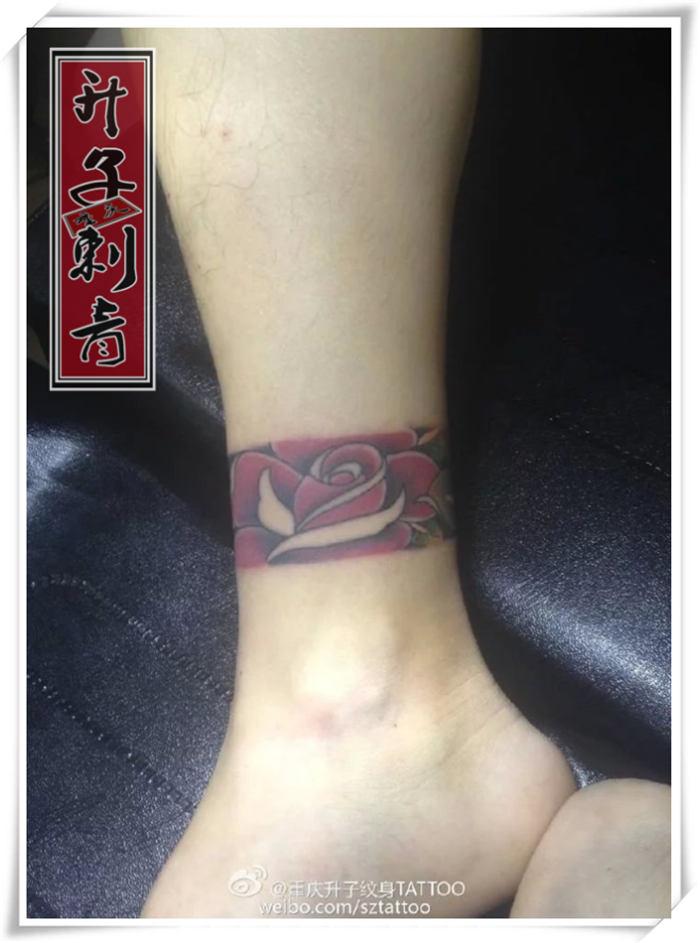 重庆纹身#脚环纹身图案#重庆脚环纹身价格 脚环有那些图案