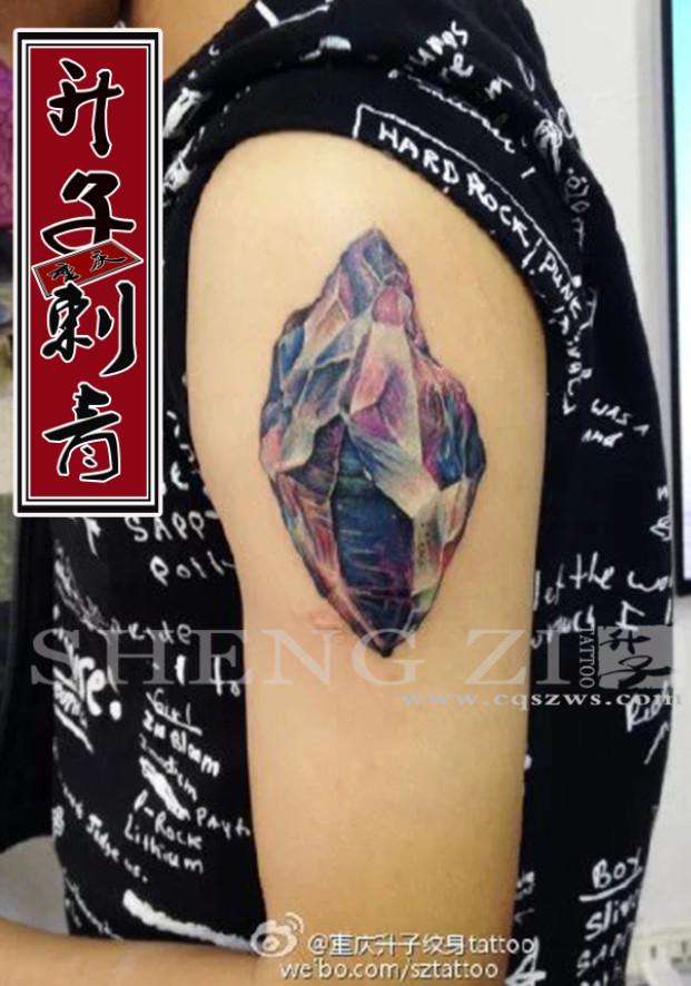 手臂纹身__钻石纹身 钻石纹身图案大全