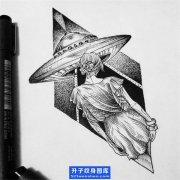 飞碟纹身 飞碟纹身手稿_ufo纹身图片_重庆飞碟纹