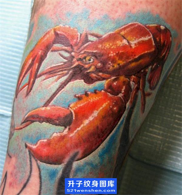 欧美写实虾子纹身图案