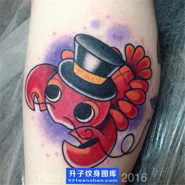 欧美虾子纹身图案