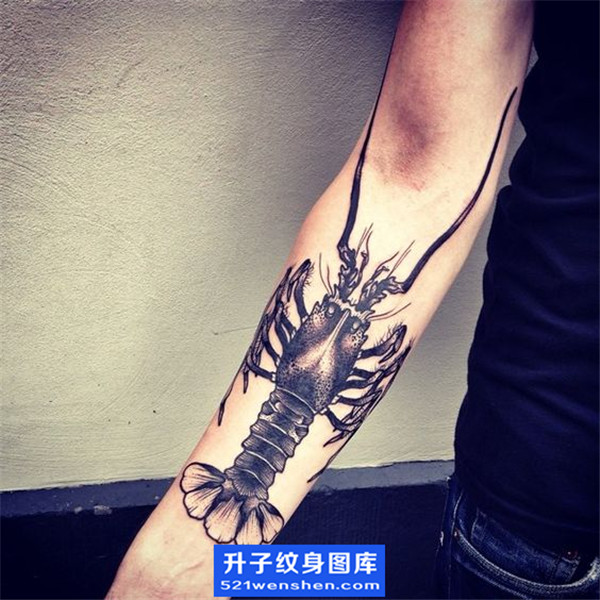 手臂欧美虾子纹身图案大全