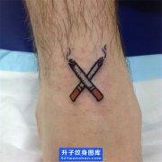 脚踝烟纹身图案大全-old school纹身图案