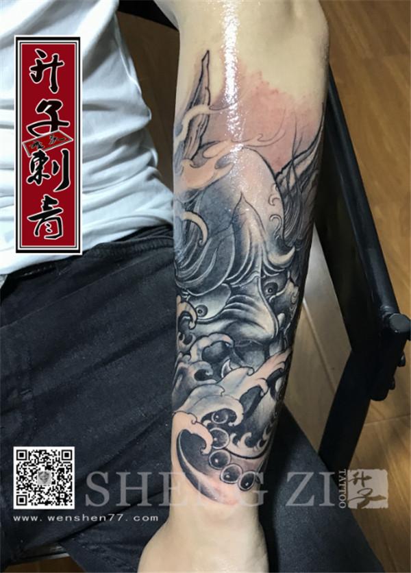 手臂纹身 般若纹身 重庆修改失败纹身图案